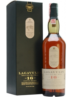 Lagavulin 16 year old Scotch single malt gift packaging