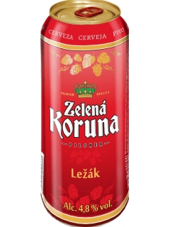Zelena Koruna Lezak light beer filtered