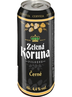 Zelena Koruna Cerne dark beer filtered