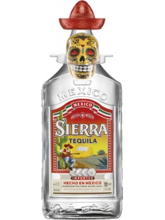 Tequila Sierra Silver with salt shaker