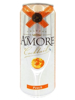 Amore Peach low-alcohol fizz drink