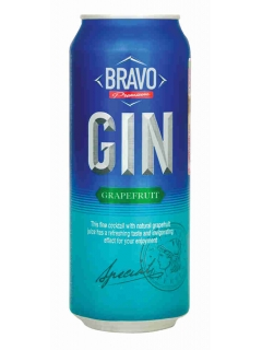 Bravo Gin grapefruit drink low-alcohol carbonated
