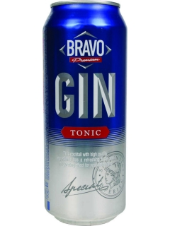 Bravo Gin-Tonic drink low-alcohol carbonated