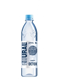 Ural water drinking non-carbonated