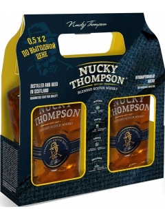 Naki Thompson Whisky Blended Aging 3 Years Flask Souvenir Packaging (price per bottle)