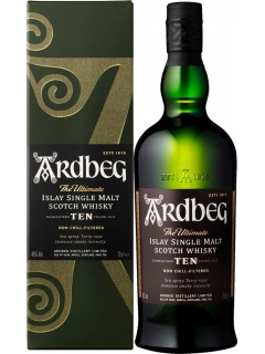 Ardbeg whisky single malts 10 years gift wrapping
