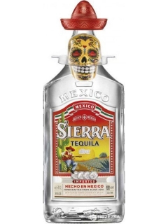 Tequila Sierra Reposado with salt shaker