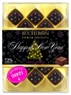 Chocolate candies Bucheron Excellence with almonds