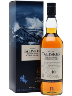Talisker Whisky Scotch single malt 10 years gift wrapping