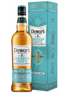 Dewars 8 years Caribbean Smooth Whisky Scotch blended gift wrapping