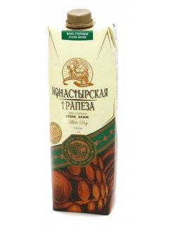Monastyrskaya Trapeza table white dry wine