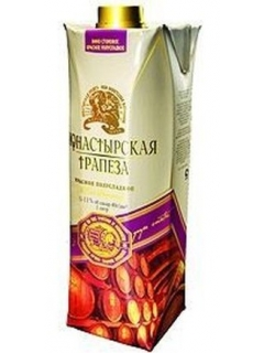 Monastyrskaya Trapeza table red dry wine