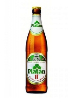 Platan Beer light weathered glass bottle