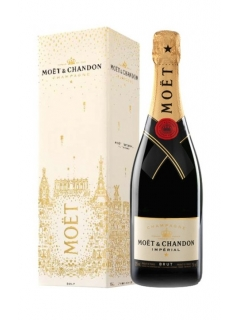 Champagne Moet and Chandon Brut Imperial white set of gift box