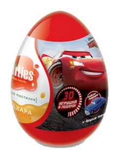 Disney Cars 2 Fruttis Fruit sugar egg with a gift