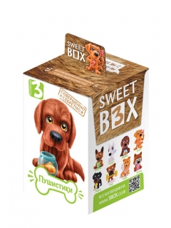Sweet box WOOBIES PUPPIES Marmalade with toy in a box with a tattoo