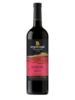 Krimsk Cabernet wine table natural dry red wine Krimsk Cabernet wine table natural dry red wine