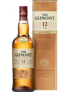 Glenlivet Excellence 12 years of Scotch single malt gift packaging