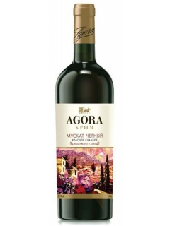 Agora Cherniy Muscat table red sweet wine