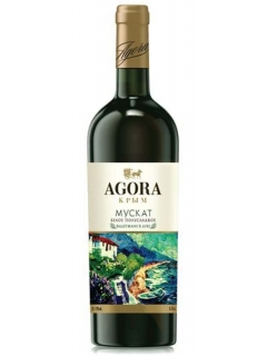 Agora Muscat white semi-sweet table wine