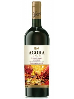 Agora Pinot Noir Crimea table red semisweet wine